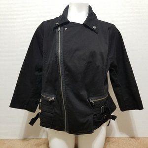 TRIPP NYC jacket 2X motorcycle zipper buckle goth